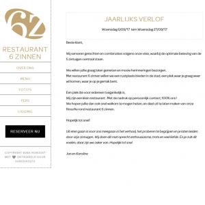 Restaurant 6 Zinnen