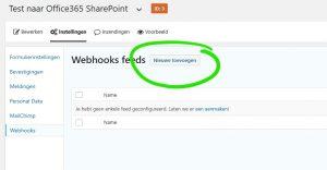 Stap 7: Webhook aanmaken