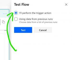 Stp 9: Test Flow en stuur het formulier in
